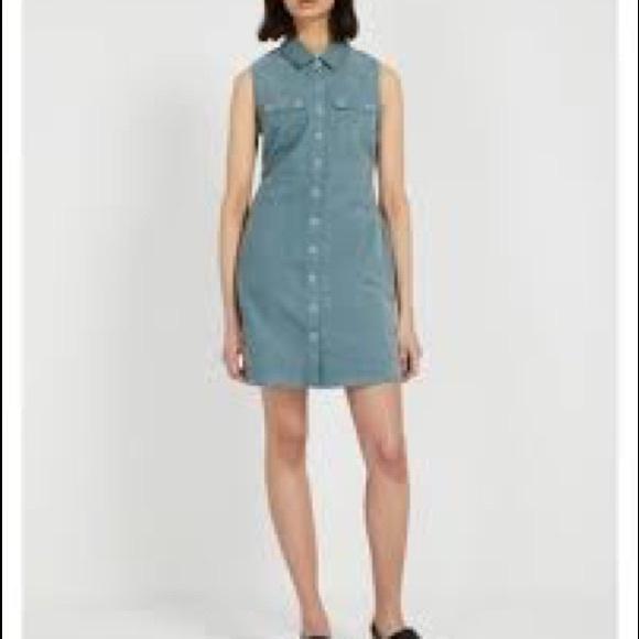 Frank & Oak Dresses & Skirts - Frank and Oak Aqua Corduroy Dress *pockets!*